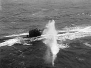 Fleet Air Arm Attack a U-boat, during a Convoy To Russia, 3 April 1944 A22859