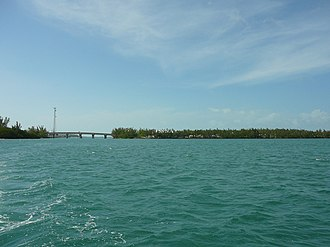 Fleming Key - The southern portion of Fleming Key as seen from the east, showing connecting bridge