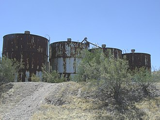 National Register of Historic Places listings in Pinal County, Arizona - Image: Florence Adamsville Ghost Town Water Tanks 1870