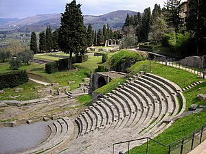 Fiesole - The Roman theatre of Fiesole is still used.