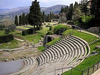 Fiesole - The Roman theatre of Fiesole is still used.