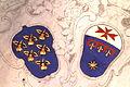 Florenz - Santa Croce - Wappen der Peruzzi und Toscanelli.JPG