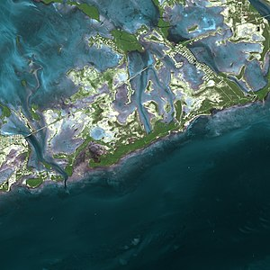 Florida Keys by SPOT Satellite