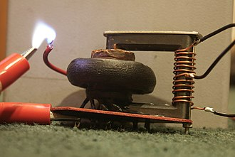 Flyback transformer - An old style flyback transformer.