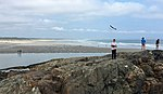 Flying an UMX Radian on the famous rock formation by Marginal way IMG 8992 FRD.jpg