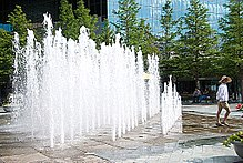 Surface Water Feature At Fountain Place 2008