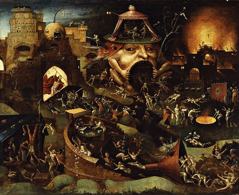 'Christ In Limbo' by a follower of Hieronymous Bosch