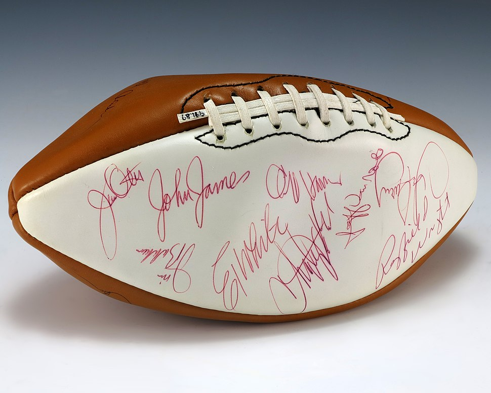 Football signed by 1975 Pro Bowl team (1991.89)