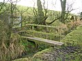 Footbridge on Pennine way - geograph.org.uk - 1102078.jpg