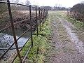 Footpath and bridleway merge at River Arun crossing - geograph.org.uk - 1710794.jpg