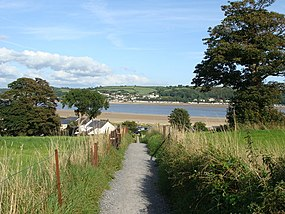 Footpath down to the river, Llansteffan - geograph.org.uk - 1432669.jpg