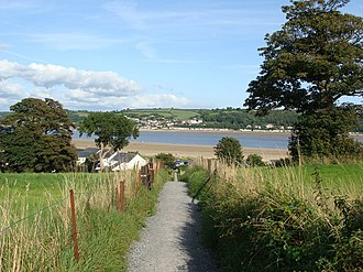 Ferryside - Image: Footpath down to the river, Llansteffan geograph.org.uk 1432669