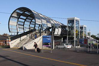Footscray railway station - Image: Footscray station footbridge
