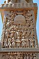 Foreigners Worshiping Stupa - East Face - West Pillar - North Gateway - Stupa 1 - Sanchi Hill 2013-02-21 4287.JPG