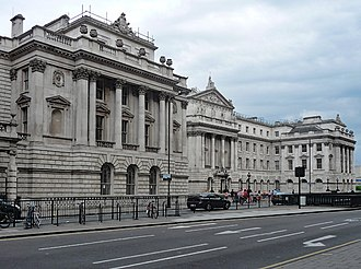 HM Excise - New Wing, Somerset House: home of the Inland Revenue's Excise Department.