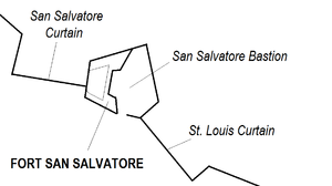 Fort San Salvatore map.png