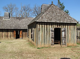 Fort St. Jean Baptiste State Historic Site - Replica building at the fort   St. Jean Baptiste des Natchitoches.