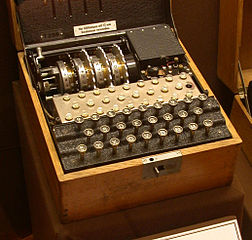 An Enigma Model T (Tirpitz)u2014a Modified Commercial Enigma K Manufactured For  Use By The Japanese.