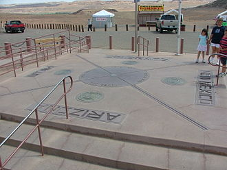Four Corners Monument - The Four Corners Monument as it looked following the 1992 reconstruction.
