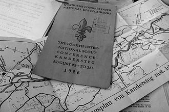 Kandersteg International Scout Centre - Flyer and map of Kandersteg distributed to the participants of the 4th International Scout Conference 1926.