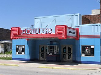 National Register of Historic Places listings in Benton County, Indiana - Image: Fowler Theater P5160168