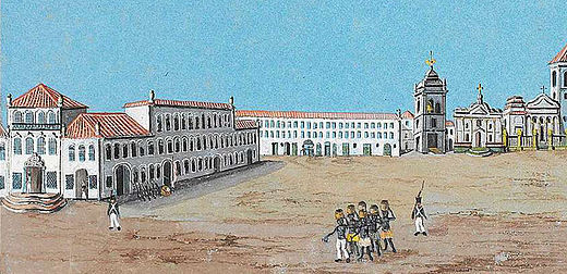 The Largo do Carmo (now the site of Rio's Praca XV de Novembro) a few years after arrival of the court Fruhbeck-LargoPaco.jpg