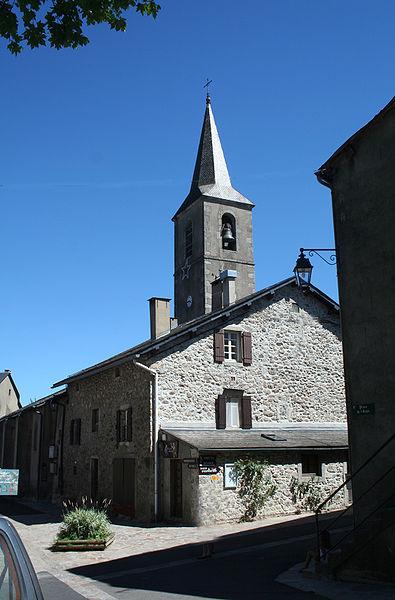 Fraisse-sur-Agout (Hérault) - clocher de St-Jean-Baptiste.