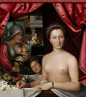 François Clouet - A Lady in Her Bath, probably depicting Diane de Poitiers, National Gallery of Art, Washington, D.C., 1571