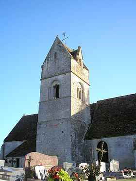 Le clocher de l'église Saint-Lambert.
