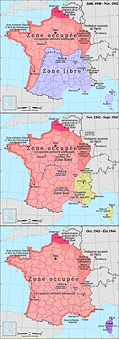 Carte Occupation Allemagne 1945.Occupation De La France Par L Allemagne Pendant La Seconde