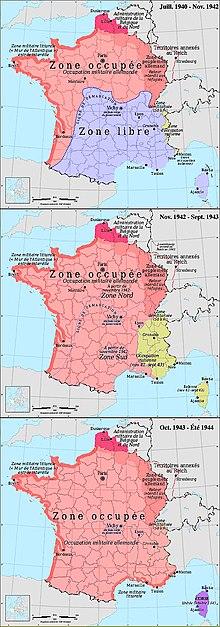2 Weltkrieg Karte.Deutsche Besetzung Frankreichs Im Zweiten Weltkrieg Wikipedia