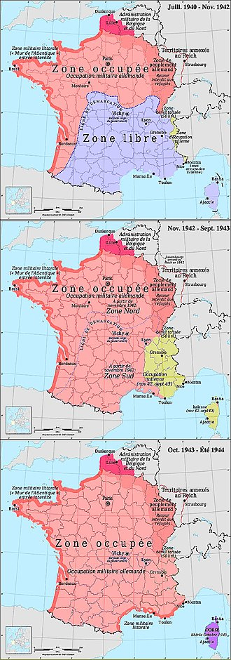 Carte De Leurope En 1942.Zone D Occupation Italienne En France Wikipedia