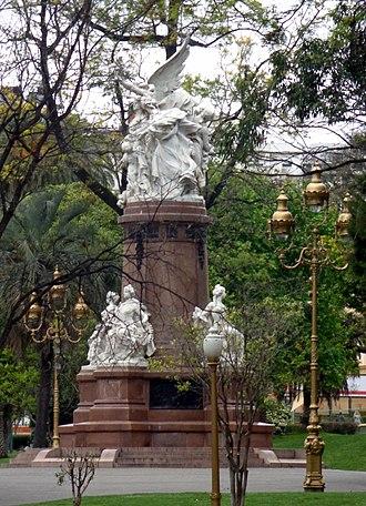 Plaza Francia, Buenos Aires - Image: Francia a la Argentina Emile Peynot 05