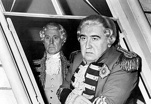 "Cavalcade of America - Francis L. Sullivan and Richard Avonde in ""Margin for Victory"", 1954"