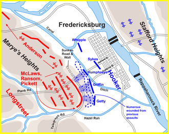 Hooker S Assault 3 30 P M December 13 1862 The Sequence Of Union Division Attacks Was Griffin V Corps Humphreys V And Getty Ix