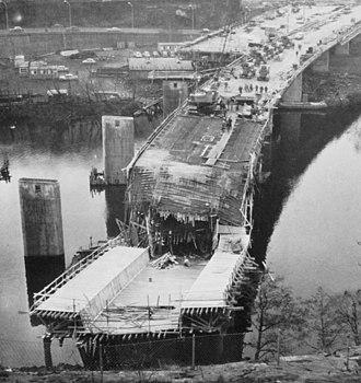 Essingeleden - Image: Fredhällsbron 1964b
