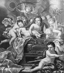 Fredrik prins av Sverige allegori över hans död