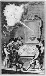 Freimaurerische Arbeit im 18. Jahrhundert (Quelle: Wikimedia)