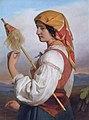 Friedrich von Amerling - Italienerin mit Spinnrocken (1846)FXD.jpg