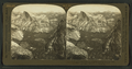 From Eagle Peak over the Valley to Glacier Point, Mt. Clark, Nevada Falls and Half Dome, Yosemite, Cal., U.S.A, by H.C. White Co..png