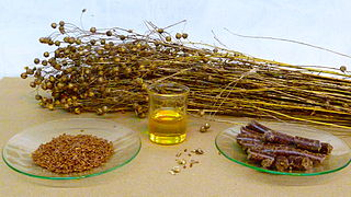 Linseed oil yellowish oil obtained from the dried, ripened seeds of the flax plant