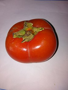 The Non Astringent Persimmon Is Squat Like A Tomato