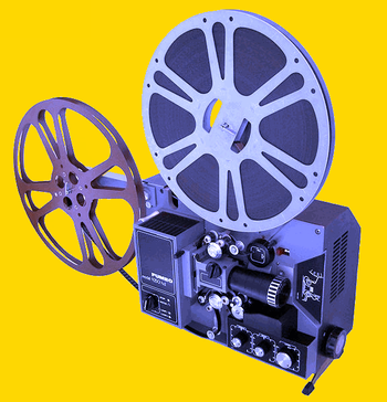 English: A film projector Fumeo model 9250 hd,...