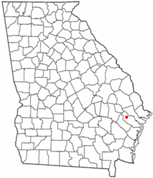 Fort Stewart - Location of Fort Stewart, Georgia