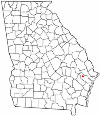 Fort Stewart - Location of Fort Stewart, Georgia