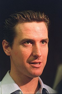 "GAVIN Newsom talking to the media about ""Care Not Cash"" program,"" 2003.jpg"