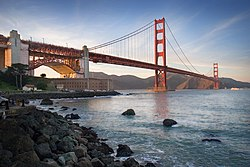 Le Golden Gate Bridge, symbole de San Francisco