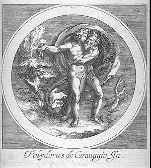 Cherubino Alberti - Giove bacia Ganimede by Cherubino Alberti, after a work by Polidoro da Caravaggio.