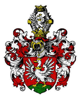 Gans zu Putlitz - The coat of arms displaying a goose, the family symbol with Gans meaning goose.