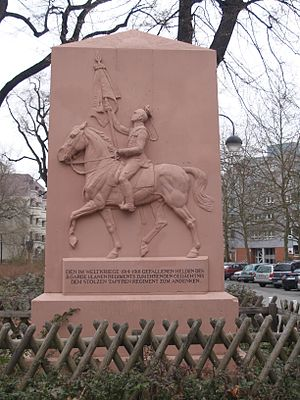 2nd Guards Uhlans - The Regiment war memorial located in Berlin-Moabit, unveiled in 1923